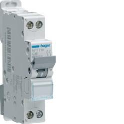 Hager - Disjoncteur 1P+N 4.5-6kA C-40A 1 module - Réf: MJT740