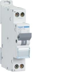 Hager - Disjoncteur 1P+N 3kA C 32A à Vis - Réf: MFN732
