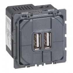 Legrand Céliane - Module de charge double USB 2400mA - Réf : 067462