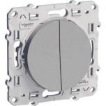 Schneider Odace - Double Interrupteur Va et Vient - Réf : S530214
