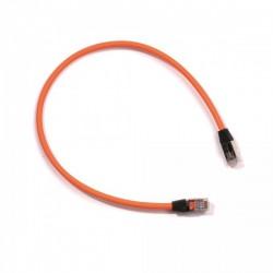 Ohmtec - Cordon de brassage cat6 FTP lSZH RJ45 mâle/mâle 30 cm - Réf : 413303