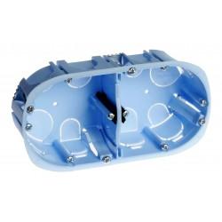 Eur'Ohm - Boîte d'encastrement - XL Pro - 2 postes - prof. 40 mm - Réf : 52044