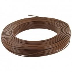 Fil H07 V-U (Rigide) 1,5 mm² - Couronne 100 m - Marron - Réf : 000805