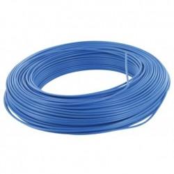 Fil H07 V-R 6 mm² - Couronne 100 m - Bleu - Réf : 002905