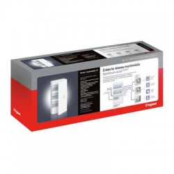 Legrand - Prêt à poser coffret multimédia Optimum auto Gigabit DRIVIA 13 - TV sur RJ - Réf : 413264