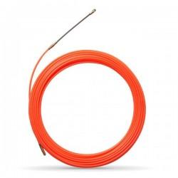 Tire fil nylon de 20m orange Ø4mm à embout interchangeable - Réf : 439141