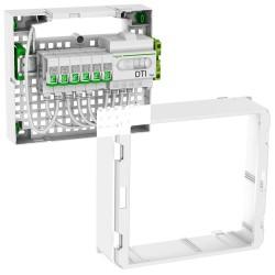 Schneider - LexCom Home - coffret Grade 2TV Essential - 6xRJ45 cat 6 - Resi9 13M 1R - Réf : VDIR390026