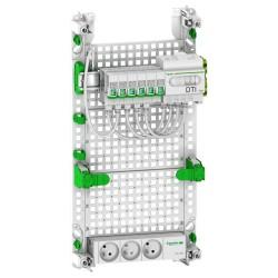 Schneider - LexCom Home - coffret Grade 2TV Box Essential - 6xRJ45 cat 6 - Resi9 13M 3R - Réf : VDIR390036
