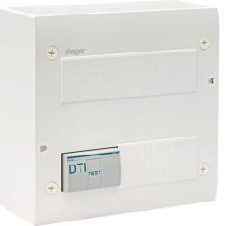 Hager - Coffret de com éco 4xRJ45 Gr. 2TV - Réf : TN305