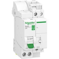 Schneider - Resi9 XE - combiné disj+télérupteur - 1P+N - 10A - courbe C - embrochable - Réf : R9ECL610