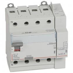 Legrand - Inter diff DX³-ID - vis/auto - 4P - 400V~ - 40A - type AC- 300mA -départ haut- 5M - Réf : 411654
