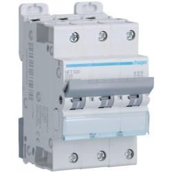 Hager - Disjoncteur 3P 6-10kA courbe C - 20A 3 modules - Réf : NFT320