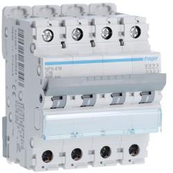 Hager - Disjoncteur 4P 6-10kA courbe C - 16A 4 modules - Réf : NFN416