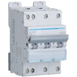 Hager - Disjoncteur 3P+N 6-10kA courbe C - 20A 3 modules - Réf : NFT820