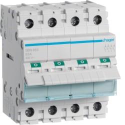 Hager - Interrupteur modulaire 4 pôles 63A - Réf : SBN463