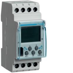 Hager - Interrupteur horaire électronique 2 voies sur 7 jours - version base - Réf : EG203B