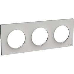 Schneider - Odace Styl Plaque Sable 3 Postes Horizontaux Ou Verticaux Entraxe 71Mm - Réf : S520706B1