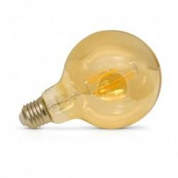 Vision-EL - Ampoule LED à filament - globe G95 E27 8W 4000°k golden - Réf : 7153