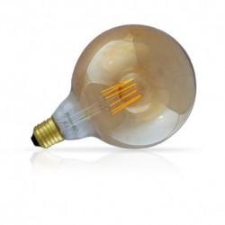 Vision-EL - Ampoule LED à filament - globe G125 E27 8W 3000°k golden - Réf : 7157