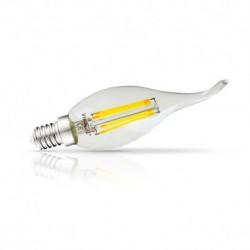 Vision-EL - Ampoule LED à filament - coup de vent E14 4W 2700°k claire - Réf : 71237