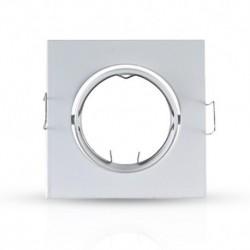 Vision-EL - Support plafond Carré Orientable Blanc 84 x 84 mm - Réf : 7708