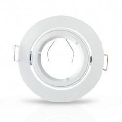Vision-EL - Support plafond Rond 1/4 de tour Orientable Blanc Ø93 mm - Réf : 7711