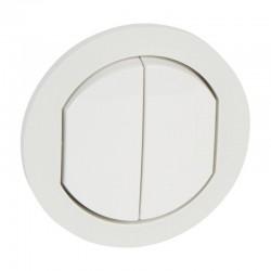 Enjoliveur double Céliane IP44 pour référence 067001 ou 067031 - Blanc - Rèf : 067802