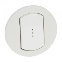 Enjoliveur simple à voyant Céliane IP44 pour référence 067001 ou 067031 - Blanc - Rèf : 067803