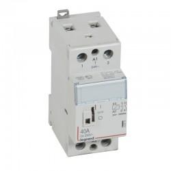 Legrand - Contacteur de puissance CX³ commande manuelle bobine 24V~ - 2P 250V~ - 40A - contact 2F - 2 M - Rèf : 412515