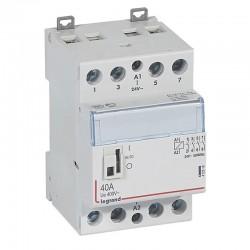 Legrand - Contacteur de puissance CX³ commande manuelle bobine 24V~ - 2P 400V~ - 40A - contact 4F - 2 M - Rèf : 412518
