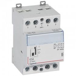 Legrand - Contacteur de puissance CX³ commande manuelle bobine 24V~ - 2P 400V~ - 63A - contact 4F - 2 M - Rèf : 412519