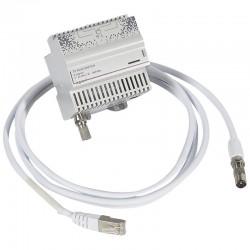 Legrand - Répartiteur modulaire télé TNT et câble opérateur 4 sorties RJ45 pour coffret Optimum manuel - 4 m - Réf : 413019