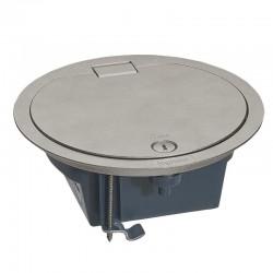 Legrand - Boîte de sol IP66 4 modules avec couvercle sur charnière - inox - Réf : 088064