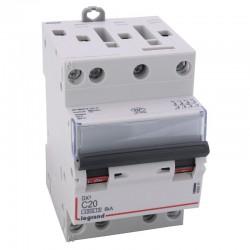Legrand - Disjoncteur DX³ 4500 - vis/vis - 4P - 400 V~ - 20A - 6kA - courbe C - 3 modules - Réf : 406911