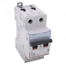 Legrand - Disjoncteur DX³6000 10kA - vis/vis - 2P 230V~ à 400V~ - 32A - courbe C - 2 modules - Réf : 407787