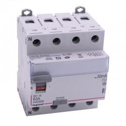Legrand - Inter diff DX³-ID - vis/vis - 4P - 400V~ - 63A - type AC - 30mA - départ bas - 4M - Réf : 411662