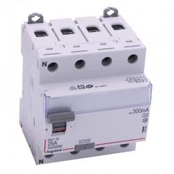 Legrand - Inter diff DX³-ID - vis/vis - 4P - 400V~ - 25A - type A - 300mA - départ bas - 4M - Réf : 411684