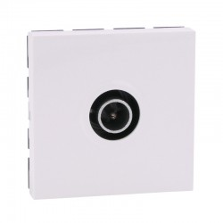 Legrand Mosaic - Prise TV Simple - 9.52mm - Mâle - 2 modules - blanc - Réf : 078782