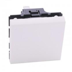 Legrand Mosaic - Poussoir 6A - 2 modules - blanc - Réf: 077040