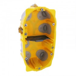 Legrand - Boîte multipostes Prog. Ecobatibox - 2 postes - 4/5 modules - prof. 40 mm - Réf : 080022