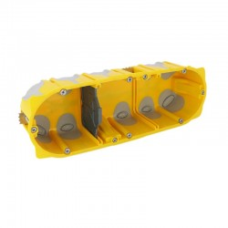 Legrand - Boîte multipostes Prog. Ecobatibox - 3 postes - 6/8 modules - prof. 50 mm - Réf : 080033