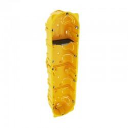 Legrand - Boîte multiposte Batibox - cloison sèche - 4 postes - 8/10 mod - prof. 40 - Réf : 080044