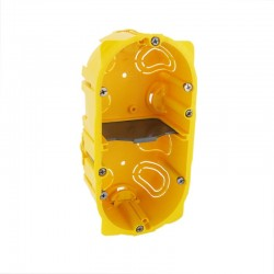 Legrand - Boîte multiposte Batibox - cloison sèche - 2 postes - 4/5 mod - prof. 50 - Réf : 080052