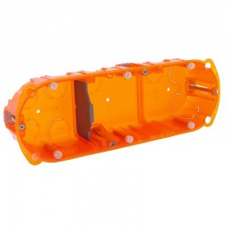 Legrand - Boîte multimatériaux Batibox - 3 postes - 6/8 mod - vert/horiz - prof. 40 - Réf : 080103