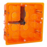 Legrand - Boîte multimatériaux Batibox - grand format - 2x2 postes / 2x4/5 mod - prof 50 - Réf : 080124