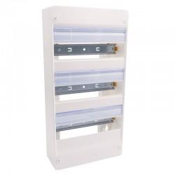 Legrand - Coffret DRIVIA 13 modules - 3 rangées - IP30 - IK05 - Blanc RAL 9003 - Réf : 401213
