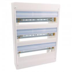 Legrand - Coffret DRIVIA 18 modules - 3 rangées - IP30 - IK05 - Blanc RAL 9003 - Réf : 401223
