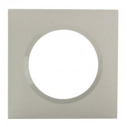 Legrand - Plaque carrée dooxie 1 poste finition plume - Réf : 600821