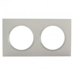 Legrand - Plaque carrée dooxie 2 postes finition plume - Réf : 600822