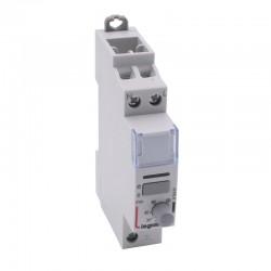 Legrand - Télérupteur silencieux temporisé à vis 230 V~- 1P - 250 V~ - 16 A - 1F -1 module - Réf : 412401